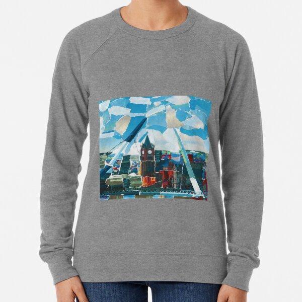 Derry Guildhal Peace Bridge With River Lightweight Sweatshirt