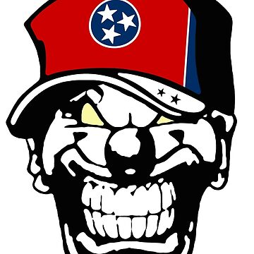 Tennessee Flag Horror Clown Love Hate Coat of Arms America by lemmy666