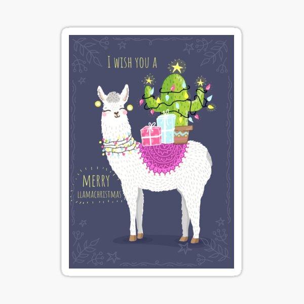 I wish you a Merry Llamachristmas Sticker