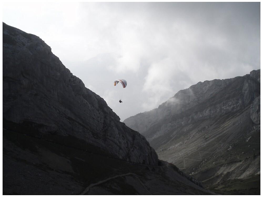 Paraglider at Mount Pilatus by Guerrilla