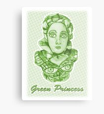Grüne Prinzessin Metalldruck