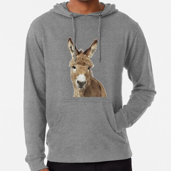 Donkey Portrait Lightweight Hoodie