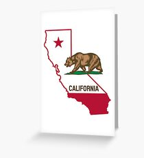 California California Coat of Arms Flag California Bear Animal Gift Greeting Card