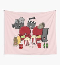 Movies Cinema Film Doodle Wall Tapestry