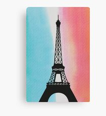 Paris France Eiffel Tower Eiffel Tower painting gift flag national colors Canvas Print