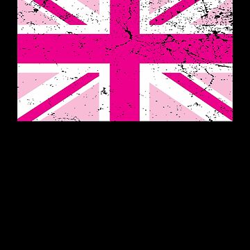 Union Jack England Pink Flag Gift by Reutmor