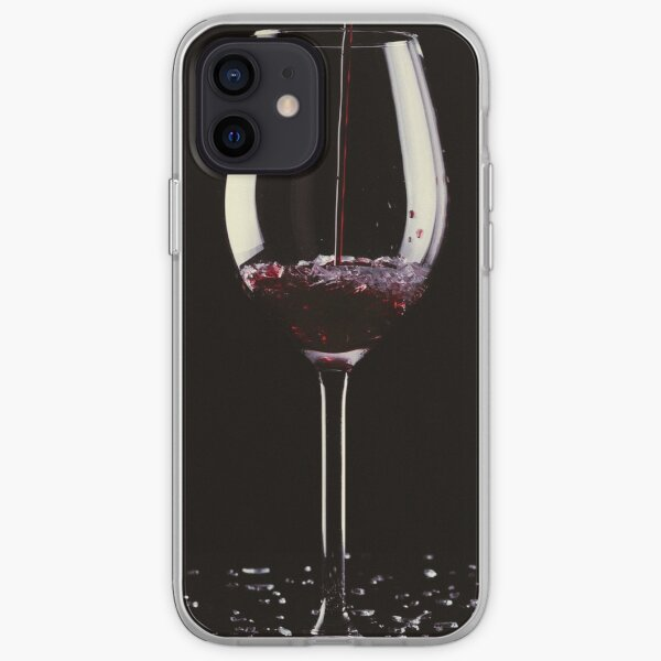 Drinking a glass of red wine iPhone Soft Case