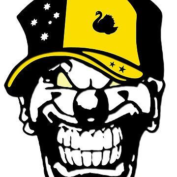 Western Australia Flag Horror Clown Love Hate Coat of Arms by lemmy666