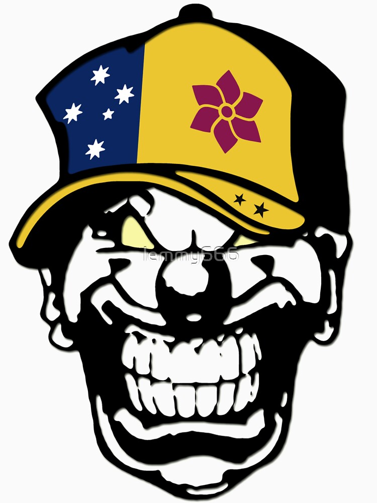 Queensland Flag Horror Clown Love Hate Coat of Arms Australia by lemmy666