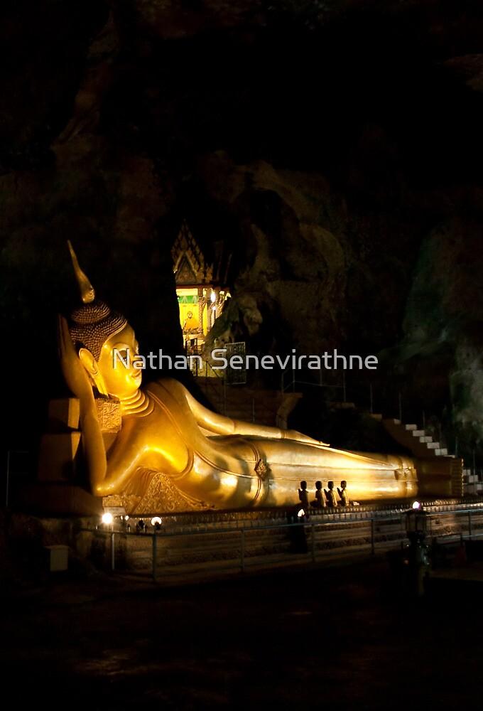 Sleeping Buddha in Monkey Cave - Phuket by Nathan Senevirathne