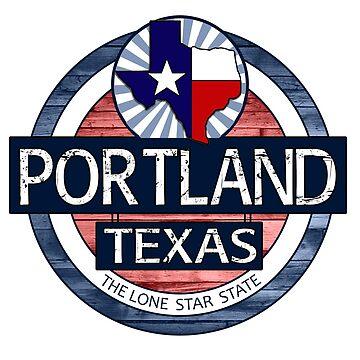 Portland Texas rustic wood circle by artisticattitud