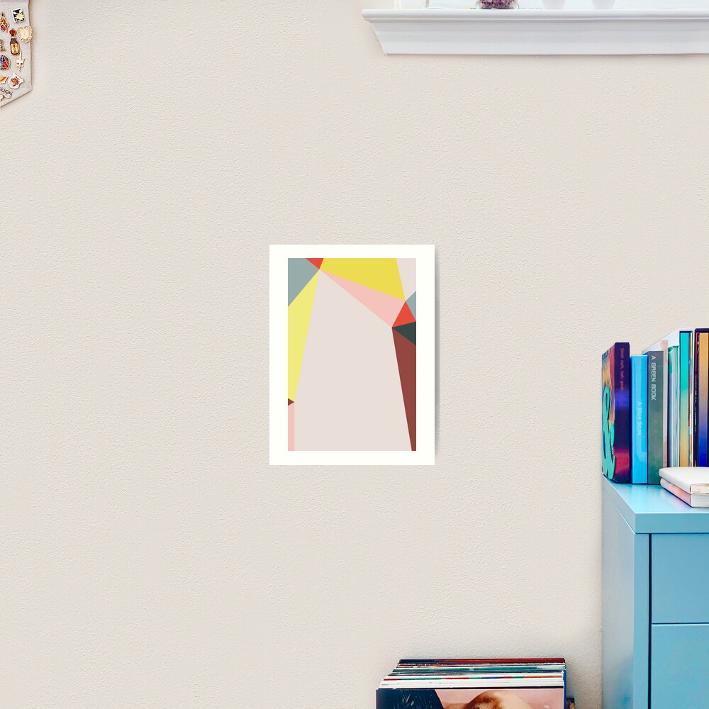Polygonal Composition n° 5 Art Print