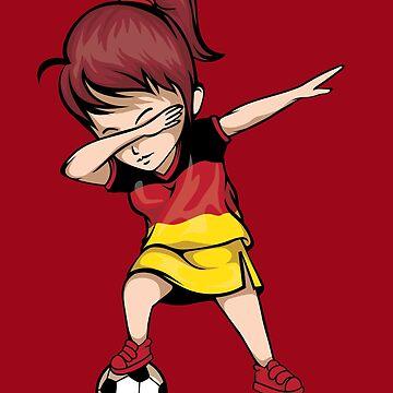Dabbing Soccer Girl Germany Jersey Art - German Football by NBRetail