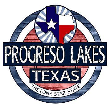 Progreso Lakes Texas rustic wood circle by artisticattitud