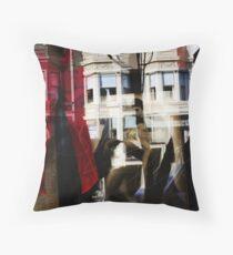 building reflection, san francisco Throw Pillow