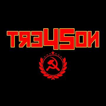 Tre45on Sweatshirt Treason Impeach Trump 86 45 Hammer Sickle by rainydaysstudio