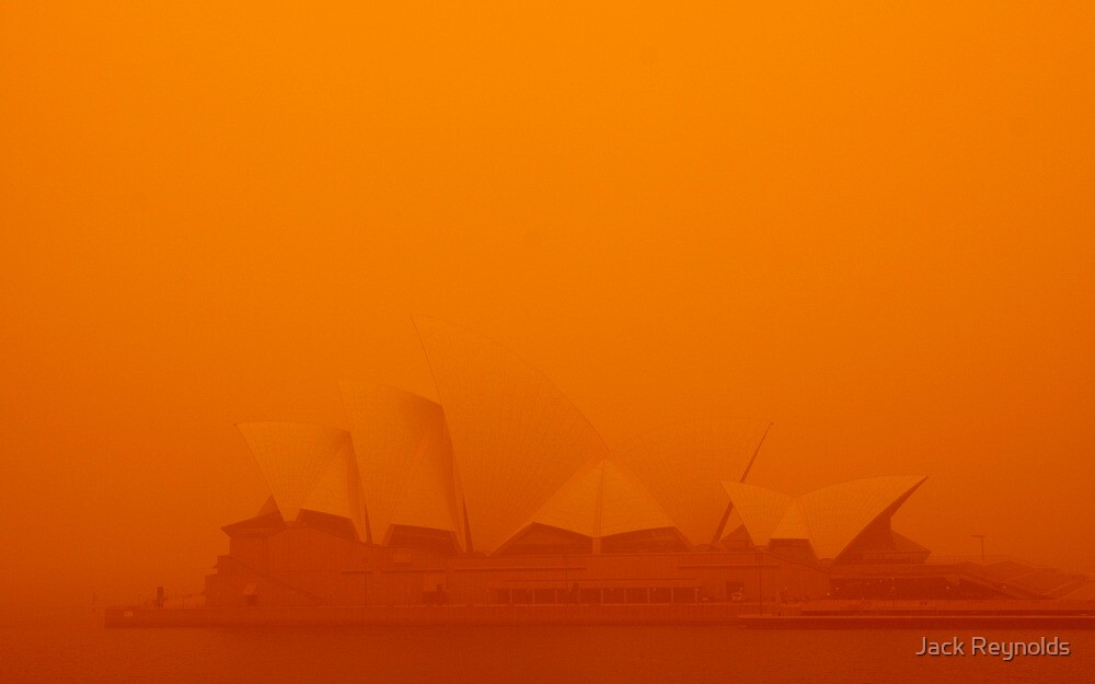 Opera House during the Sydney dust storm by Jack Reynolds