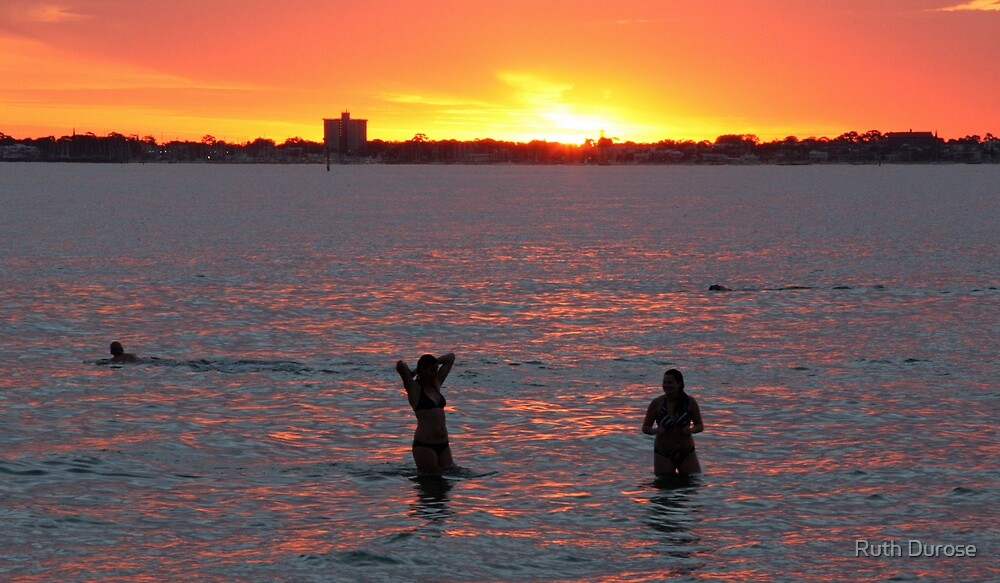 Cooling off on a  Hot November Evening - Port Melbourne by Ruth Durose