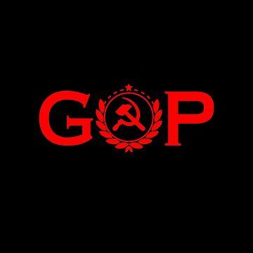 GOP Hammer Sickle Hoodie Treason CCCP Collusion Soviet by rainydaysstudio