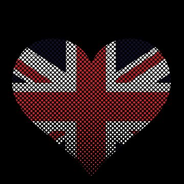 Union Jack England Heart Flag by Reutmor