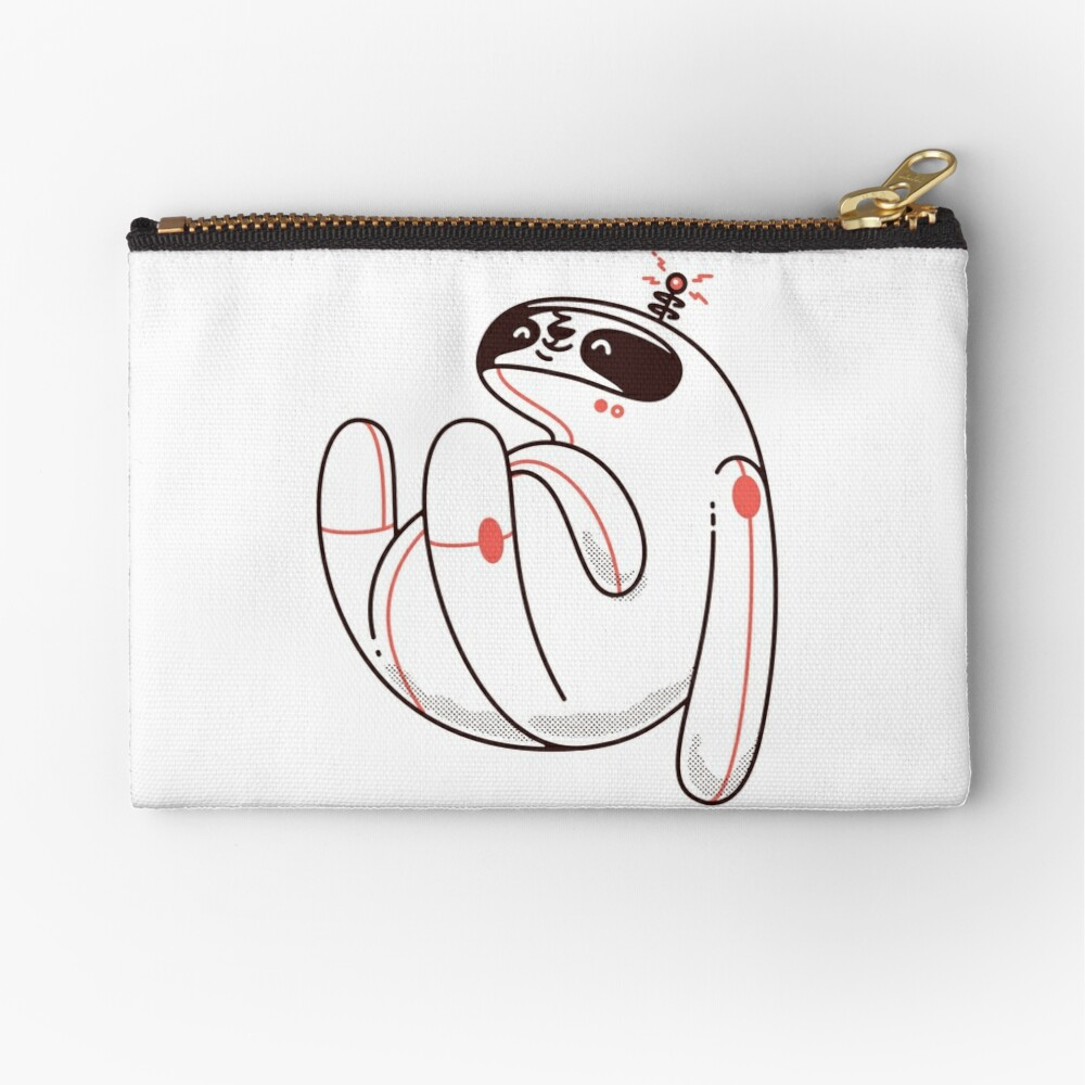 Lazy Space Sloth Zipper Pouch