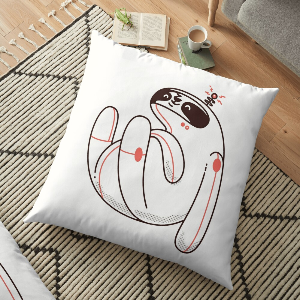 Lazy Space Sloth Floor Pillow