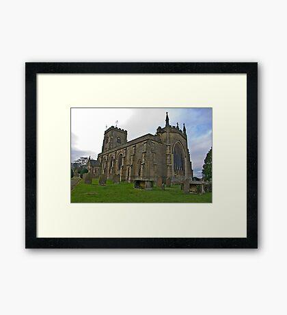 The Church East Witton. Framed Print