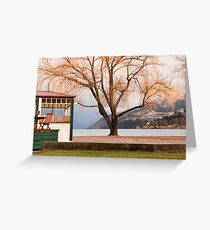 Lakeside cafe, Queenstown Greeting Card