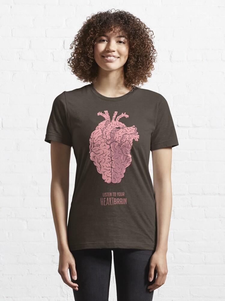Alternate view of Heart Brain! Essential T-Shirt