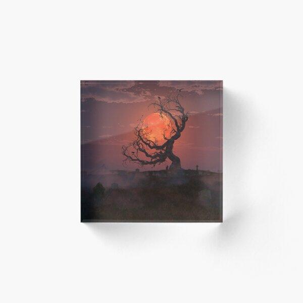 Harvest Moon Acrylic Block