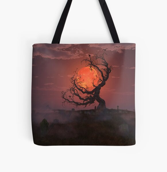 Harvest Moon All Over Print Tote Bag