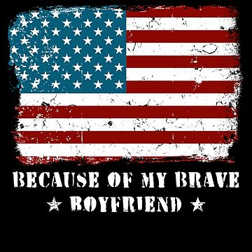 Home of the Free Boyfriend Military Family American Flag Military Family Retired or Deployed support troops patriot on Duty serves country by bulletfast