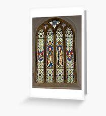 Window #1 East Witton Church Greeting Card