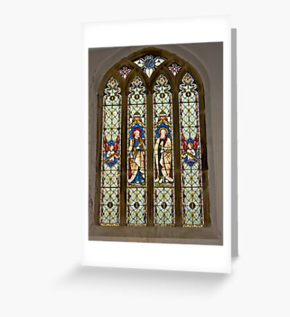 Window #1 East Witton Church Greeting Card