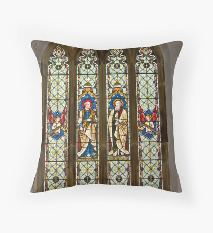 Window #1 East Witton Church Throw Pillow