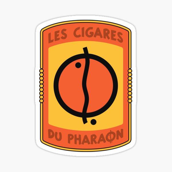 Los cigarros del logotipo del faraón Pegatina