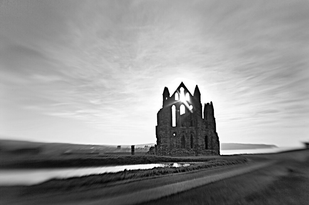 12th century Whitby Abbey by violetstar