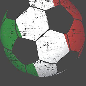 Italy Soccer Ball Flag Jersey Art - Italian Football Gift by NBRetail
