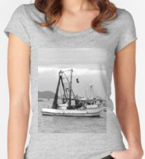 Fishing boats at Pearl Beach 1.2 Women's Fitted Scoop T-Shirt