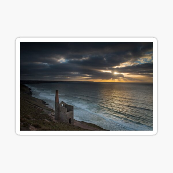 Sunset at St Agnes Cornwall Sticker