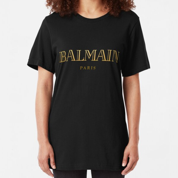 Balmain Paris Gold Slim Fit T-Shirt