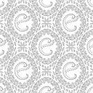 Letter E Black And White Wreath Monogram Initial by theartofvikki
