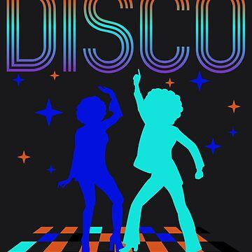 Disco Art | Cute Passionate Retro Music Fans Design Gift by NBRetail
