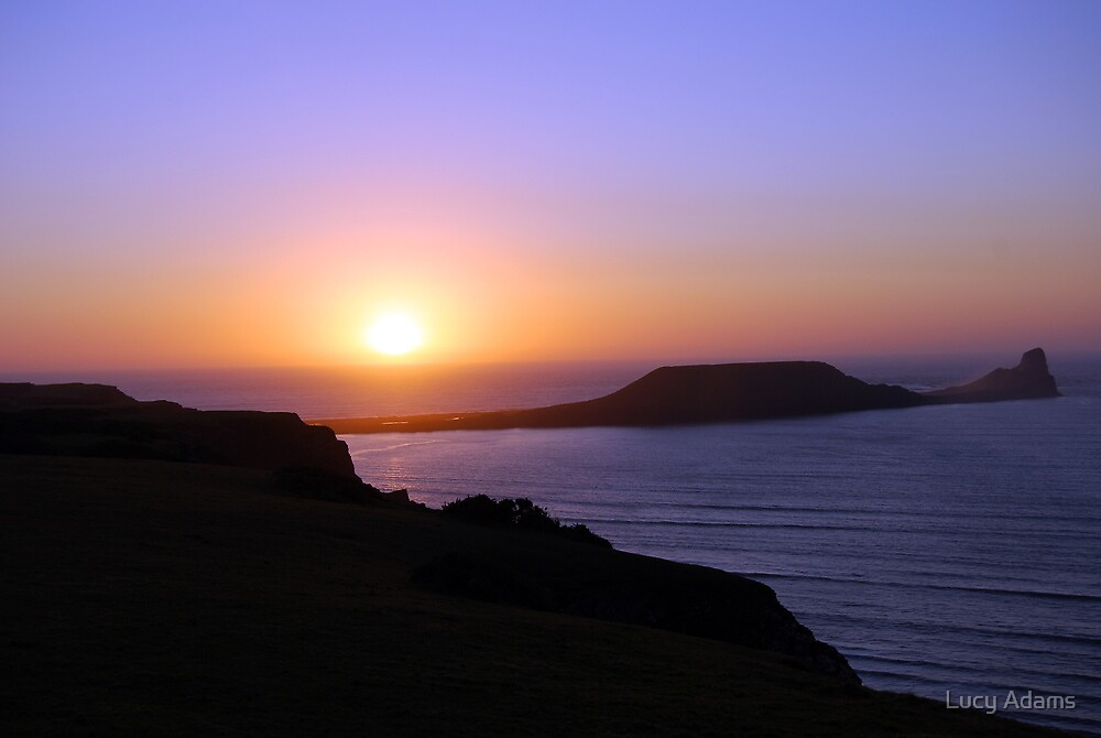 Rhossili Sunset by Lucy Adams