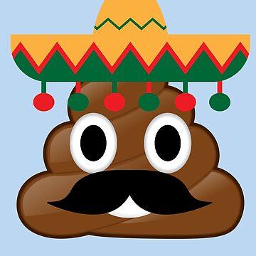 Cinco De Mayo Poop Emojis Art - Cute Mexican Costume Gift by NBRetail
