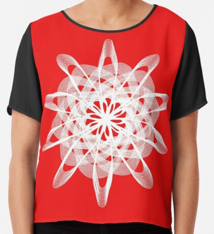 Spirograph with white Chiffon Top