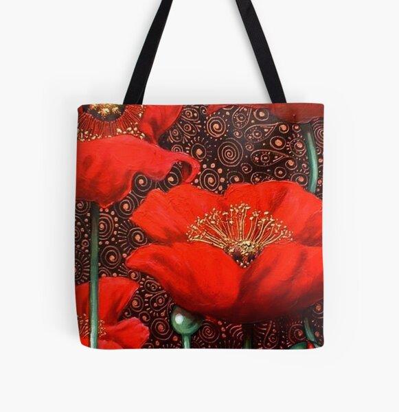 Dancing Poppies II All Over Print Tote Bag