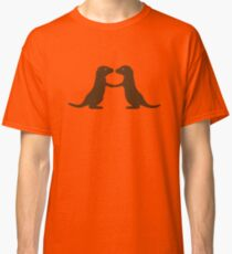 Otters Holding Hands Classic T-Shirt
