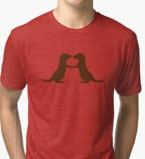 Otters Holding Hands Tri-blend T-Shirt