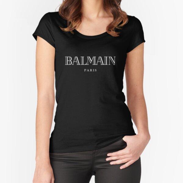 Balmain Paris White Fitted Scoop T-Shirt